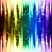 Abstract neon background top and bottom side