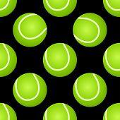 Seamless tennis ball pattern