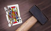 Hammer With A Broken Card, Jack Of Clubs