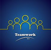 Team, Teamwork, Leader & Leadership Vector Concept Graphic