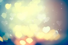 picture of valentine card  - Holiday abstract glowing blurred background - JPG