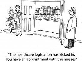 pic of mandates  - Cartoon of nurse saying to doctor - JPG