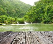 stock photo of rainforest  - Tropical River running through rainforest - JPG