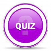 image of quiz  - quiz violet icon  - JPG