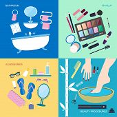 pic of personal hygiene  - Flat style vector illustration - JPG