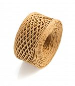 stock photo of cord  - roll of twine cord isolated on white background - JPG
