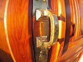 picture of door  - Old bronze door handle close - JPG