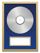 foto of plaque  - Platinum certification with blank plaque that can be labeled - JPG