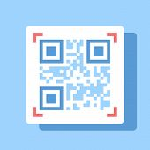 image of qr-code  - Abstract vector illustration of QR code flat design concept - JPG
