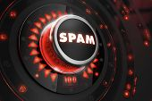 foto of spam  - Spam Controller on Black Control Console with Red Backlight - JPG