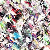 picture of psychedelic  - seamless psychedelic raster pattern - JPG