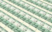 stock photo of money stack  - Yuan money bills stacks background - JPG
