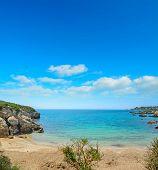 pic of shoreline  - a small beach in Alghero shoreline Sardinia - JPG
