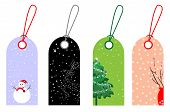 foto of christmas flower  - Christmas and New Year tags - JPG