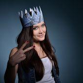 foto of princess crown  - Pretty jeans princess - JPG