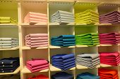 picture of pullovers  - Multicolored pullovers in shop - JPG