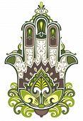 stock photo of hamsa  - Decorative Hamsa symbol for your design - JPG