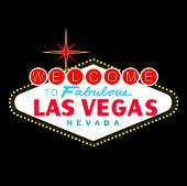 stock photo of las vegas casino  - welcome to fabulous las vegas nevada sign at night - JPG