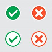 picture of confirmation  - Vector Set of Flat Design Check Marks Icons - JPG