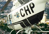 pic of chp  - flight over the city in a chp chopper - JPG