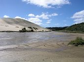 stock photo of quicksand  - Te Paki Quicksand Stream - JPG