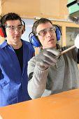 Carpenter and apprentice