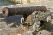 Canon From Hms Anson, Porthleven, Cornwall, Uk