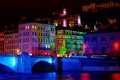 Bonaparte Bridge On The River Saone  (Lyon, France)