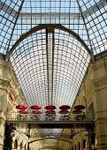 Shopping Arcade With Skylight And Cafe