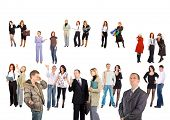 crowd of small groups and single people  - See similar images of this