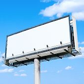 huge white blank billboard