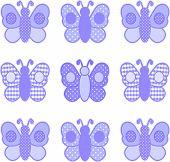 Pastel Lavender Butterflies