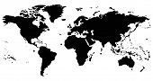image of world-globe  - black and white world map - JPG