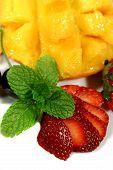 Strawberries And Mango