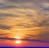 Nördlichen Sonnenuntergang