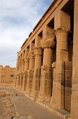 stock photo of isis  - A row of columns at the Temple of Isis at Philae - JPG