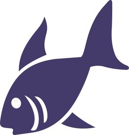 foto of sea fish  - illustration of a fish over white background - JPG