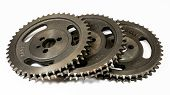 Antique Automotive Double Roller Cast Iron Timing Gears poster