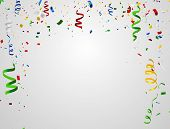 Colorful Celebration Background With Confetti. Colorful Celebration Background With Confetti. poster