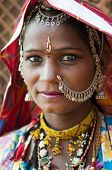 image of rajasthani  - Portrait of a India Rajasthani woman - JPG
