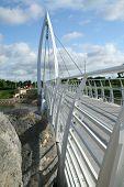 White Pedestrian Bridge