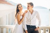 Loving Couple Spending Vacation On Tropical Island.newlyweds Honeymoon On Seaside Resort.true Love.c poster