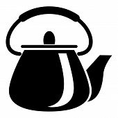 Domestic Teapot Icon. Simple Illustration Of Domestic Teapot Vector Icon For Web poster
