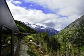 Vintage Train Out Of Skagway Alaska