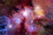 Stellar Field With Nebulae