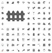 Agriculture And Farm Vector Icons Set poster