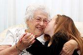 kissing Great Grandma