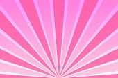Pink Sky With Rays. Abstract Background With Sunrays, Sun, Sunbeams, Beams, Dawn, Sunrise. Retro Ban poster