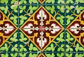 image of ceramic tile  - Colorful vintage spanish style ceramic tiles wall decoration - JPG