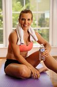 Woman Relaxing After An Exercise Workout